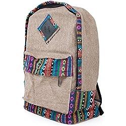 DSstyles Vintage Casual estilo bohemio lona viaje gimnasio Universidad escuela mochila mochila Bookbag portátil hombros bolsa Pack Daypack regalo para hombres mujeres estudiantes-caqui