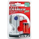 AgfaPhoto AccuCharger plus - chargeurs de batterie (AA, 5 h, 2700 mAh, Argent)