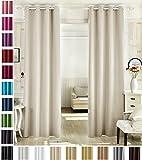 WOLTU #488, Vorhang Gardinen Blickdicht mit Ösen, Leichter & weicher Verdunklungsvorhang für Wohnzimmer Schlafzimmer Tür, 135x245 cm, Crème, (1 Stück)
