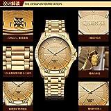 Fashion Watches Schöne Uhren, Chenxi goldene Mode Herrenuhr Edelstahl Quarz-Armbanduhr (Farbe : Gold, Großauswahl : Einheitsgröße)