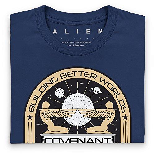 Official Alien: Covenant Building Better Worlds T-Shirt, Herren Dunkelblau