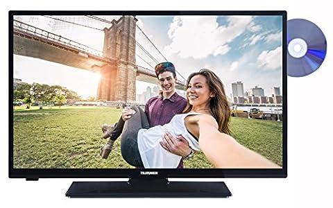 Telefunken XH28A101D 72 cm (28 Zoll) Fernseher (HD Ready, Triple Tuner, DVB-T2 H.265/HEVC, DVD-Player) schwarz