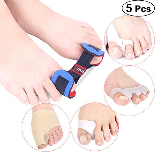 Healifty 5 Stück Toe Separator Haarglätter Corrector Toe Spacer für Hammer Bunion und krumme Zehen (Bunions Abstandshalter Toe)