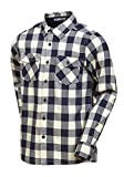 Designer Boys 100% Cotton Long Sleeve Shirt White Blue Red Top Size 3 4 5 6 7 8 9 10 11 12 13 (Blue Check, 9-10 Years)