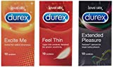Durex Extended Pleasure, Feel Thin And Excite Me Condoms (30 Condoms)