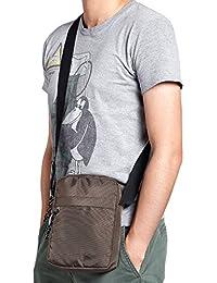 Anladia - Nylon Nilón Casual Bolso de Lona Bolso de Estilo Mensajero con Bandolera 120cm para Hombre Messenger Bag