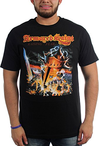 Armored Saint-Fear sollevamento-Maglietta da uomo nero Large