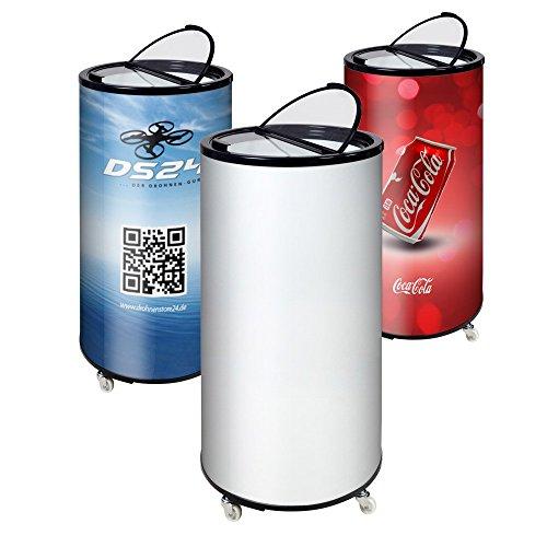 plenti Can Cooler 77L - Getränkedosen Kühltonne - Werbekühlschrank - Kühldose - ideal für Events