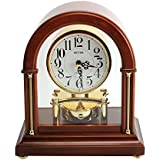 Deluxe Arched Design Rhythm Mantel Clock - Westminster Chime