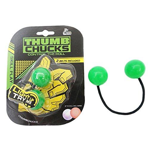 Preisvergleich Produktbild Coolster Finger Ball Luminous Night Speeder Daumen Knöchel Control Roll Spielzeug Anti Angst Stress Relief Spielzeug (Grün)