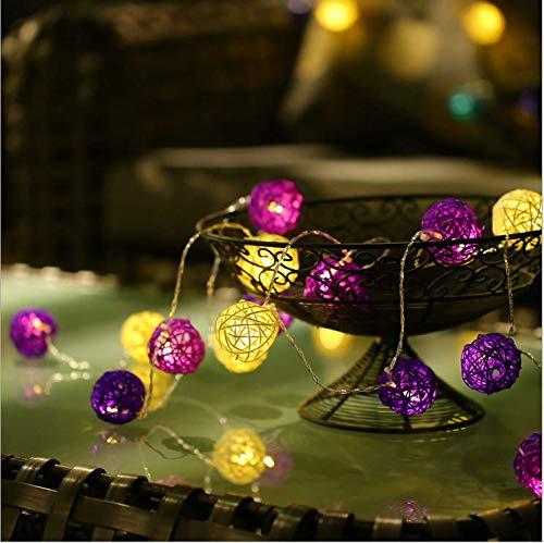 Explosion modelle solar lila pulver weiß rattan ball lichter blinklichter wasserdicht outdoor indoor urlaub garten party dekoration 5 meter 30 lichter led lichterkette -