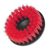 Yunso 120mm Power Peeling Bohrer Pinsel für Reinigung Stein Baren fliesen holzboden Kunststoff Dicken teppich Dickes tuch (Rot)