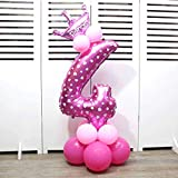 Ruimin Kreative Folie Ballons 32-Zoll-Luftballons Geburtstag Party Decor 【Latex Ballons】