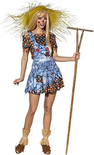 Orlob Damen Kostüm Vogelscheuche Latzrock Bluse Karneval Fasching Gr.42/44 (Kostüm Damen Vogelscheuche)