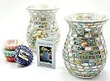 2x Offizielle Yankee Candle Wax Melt Havana Mosaik Wärmer Brenner inkl. 4x Verschiedene Tarts