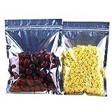20 STÜCKE 6,7 'x 9' Transparente Aluminiumfolie Getrocknete Früchtetee Gewürz Verpackung Verschließen Tasche Lebensmittel Druckverschlussbeutel Wiederverwendbare Handkette Tasche