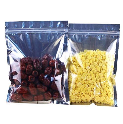 """20 STÜCKE 6,7 """"x 9"""" Transparente Aluminiumfolie Getrocknete Früchtetee Gewürz Verpackung Verschließen Tasche Lebensmittel Druckverschlussbeutel Wiederverwendbare Handkette Tasche"""