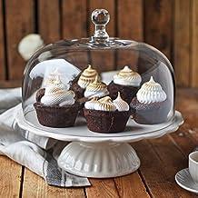 "Romántico: Ib Laursen plato para tartas ""Mynte"" en Butter Cream con campana, Ø 29 cm"