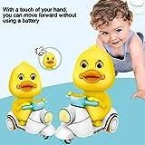 MoMo Honey Inertia Car, Cute Cartoon Duck sul Modello di Moto Tirare Indietro inerzia Giocattolo per Bambini Regalo per Bambini Colore Casuale