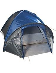 Gregster doppelwandiges Kuppelzelt / Familienzelt für bis zu 4 Personen   Einfach und schnell auszubauen durch Quick UP System   Ideal für Campingurlaube, Festivals & Wochenendtrips