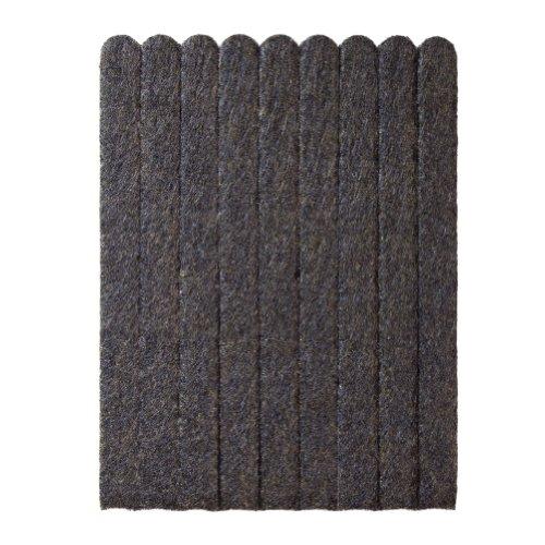 Filzgleiter, Möbelgleiter als Filzstreifen, ca. 15 x 1,3 x 0,5 cm, extra, strapazierfähiger Filz, selbstklebend, 108 Stück, braun; als Bodenschutz für Möbelfüße, Tischbeine, Stuhlbeine, Stühle - Made in Canada
