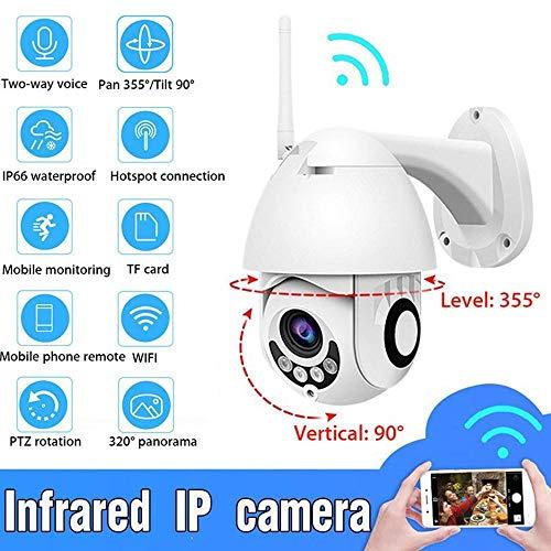 Überwachungskamera HD 1080P WiFi IP-Überwachungskamera drahtlose Outdoor-Sicherheit High-Speed-Dome-Kamera IR 30M Kamera@EU-Stecker -