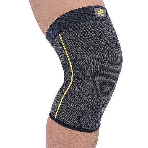 BRACOO Guardian elastische Kniebandage – Kompression Knieschoner – Knieschutz | Atmungsaktive Kniestütze für Damen & Herren, Muskelstabilität & natürliche Bewegung beim Sport und im Alltag