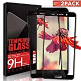 Aonsen Huawei Mate 10 Pro Screen Protector, [2 Pack] Mate 10 Pro Coverage Tempered Glass Displayschutzfolie, 9H Hardnes, Huawei Mate 10 Pro HD Crystal Protective Film Guard Cover - Black