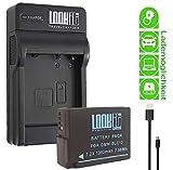 LOOKit Chargeur + 2X LOOKIt Batterie BLC12-1050mAh pour Panasonic Lumix FZ1000 II...