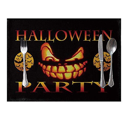 Bangle009 Platzdeckchen für Halloween, Kürbis-Eule, Tischset, Esszimmer, Isoliermatte ()