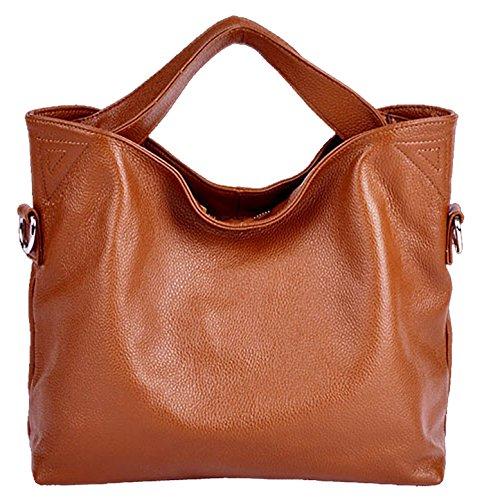 SAIERLONG Neues Damen Orange Mode Aus Weichem Leder Damen Handtaschen Schultertaschen Braun