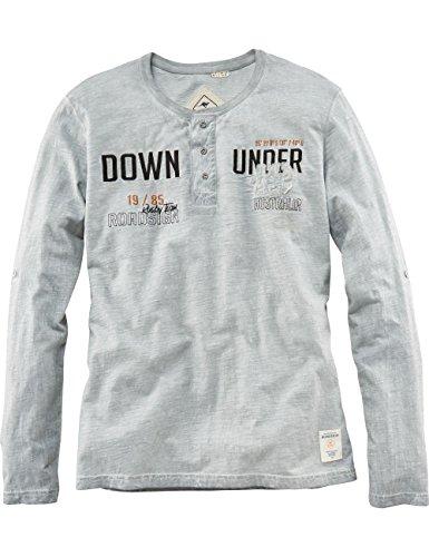 ROADSIGN australia Longsleeve Henley-Shirt Clare Valley grau L (Co Sleeve Henley Long)