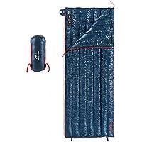 Tentock Súper Cálido compresión Ultraligero Ganso Abajo Envelope Saco de Dormir al Aire Libre con Cremallera