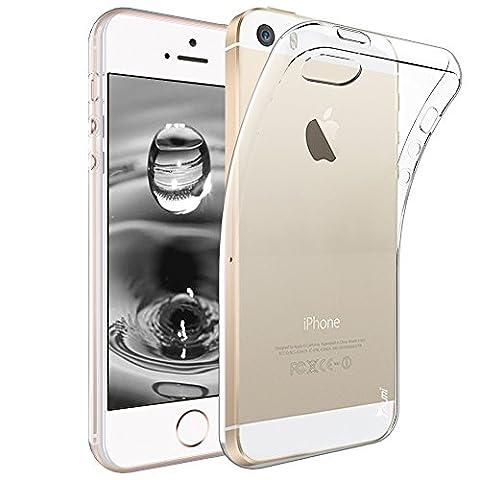 iPhone 5 Hülle, iPhone 5S Hülle, iPhone SE Hülle, TAURI Ultra Schlank Dünn TPU Gel Gummi Weiche Haut Silikon Anti-Kratzer Schutzhülle Abdeckung Case Cover -