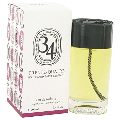 34 boulevard saint germain by Diptyque Eau De Toilette Spray (Unisex) 3.4 oz / 100 ml (Women)