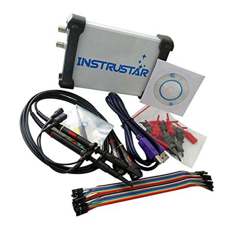 Homyl ISDS205C PC USB Analoges Virtuelles Oszilloskop 16 Kanallogikanalysator mit Oszilloskop Sonde, Bandbreite: 20 MHz