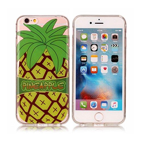 iPhone 6s Plus Custodia, [Materiale flessibile TPU Gel trasparente del silicone Grip sottile e leggero ] Copertura iPhone 6 Plus /6S Plus Case 5.5, Shock Proof [ Cartoon farfalla Fiore Nero ] # # 10