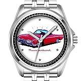 Personalisierte Herrenuhr Mode wasserdicht Uhr Armbanduhr Diamant 009.1962 Ford Thunderbird Roadster