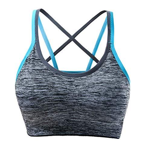 are gepolsterte Sport-BH Nahtlose Unterstützung BH Workout Yoga Bra Unterwäsche ()