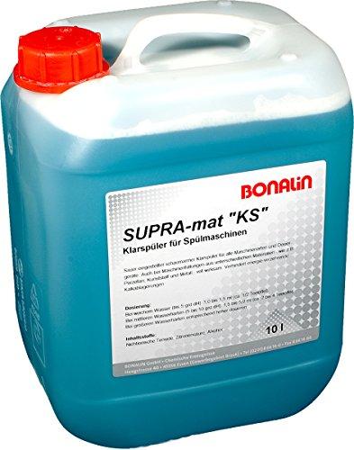 Bonalin Supramat KS Maschinenspülmittel. Klarspüler für alle Geschirrspülmaschinen und Dosiergeräte