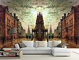 CHAFQZQ 3D des Autocollants Murales Peintures Décorations Mur Fond Style Européen Et Américain Nostalgique Rétro Chambre Art Kids_400*280cm