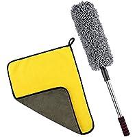 LIOOBO Estiramiento Creativo Extender Suave de Microfibra Polvo Shan Ajustable Herramienta de Limpieza de Coches de Cepillo Doméstico