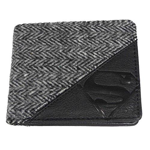 Officiellement sous licence DC Comics en relief Superman Logo Bi-Fold Wallet