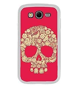 Fuson Designer Back Case Cover for Samsung Galaxy Grand 2 :: Samsung Galaxy Grand 2 G7105 :: Samsung Galaxy Grand 2 G7102 :: Samsung Galaxy Grand Ii (Skull Danger pink yellow Skull Flower Skull)