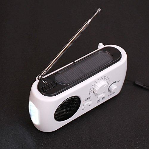 Hanbaili AM FM Radio Handkurbel Dynamo Generator Solar Power Wind Taschenlampe Licht