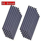 MCTECH 50 Stück Universal Befestigungsclips Klemmschienen für PVC Sichtschutzstreifen - Anthrazit (50 Stück)
