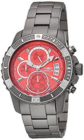 Invicta Men's 'TI-22' Quartz Titanium Dress Watch, Color:Grey (Model: 22462)