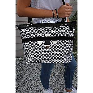 große schwarze Handtasche Lederhandtasche Shopper