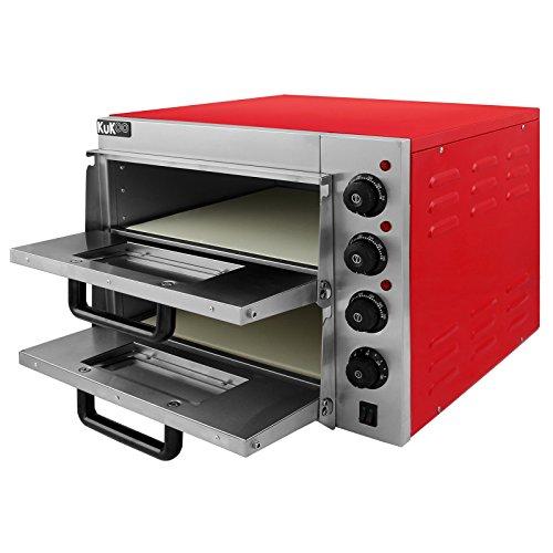 Kukoo forno elettrico a doppio ripiano per pizza da 40cm - Forno per pizza elettrico ...
