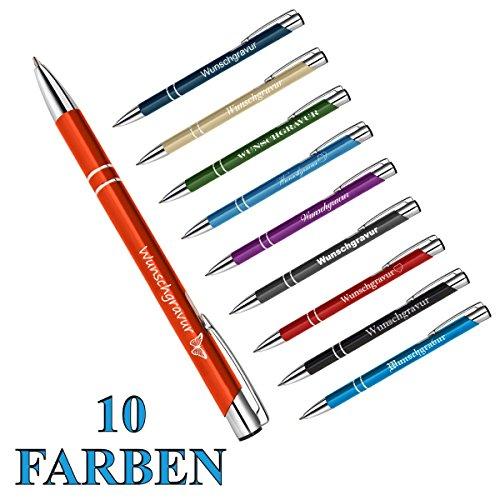 1 Metall - 'Oleg' Kugelschreiber mit individueller Wunschgravur Gravur ( Farbe - Lila )